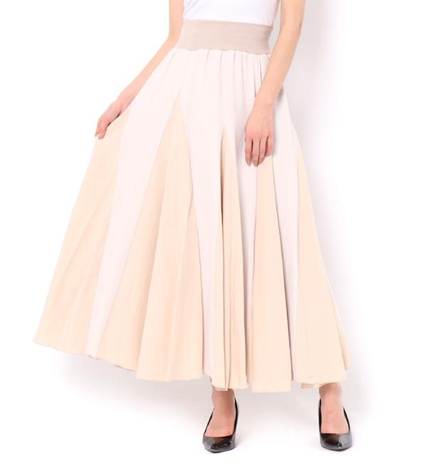【アンドクチュール/And Couture】 ジョーゼット&綿レーヨンロングスカート