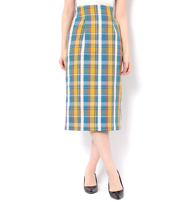 【アンドクチュール/And Couture】 【美人百花3月号掲載】チェックロングタイトスカート