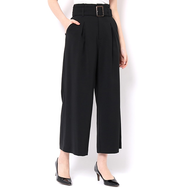【アンドクチュール/And Couture】 ストレッチワイドパンツ