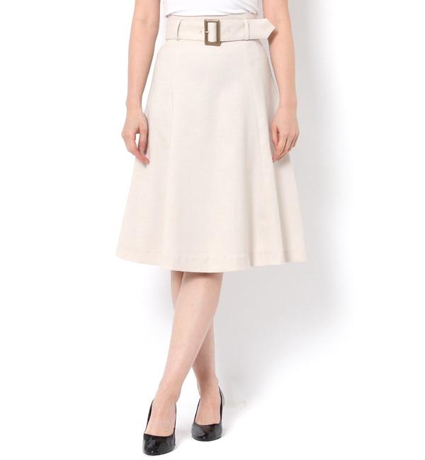 【アンドクチュール/And Couture】 6枚ハギベルト付きフレアスカート