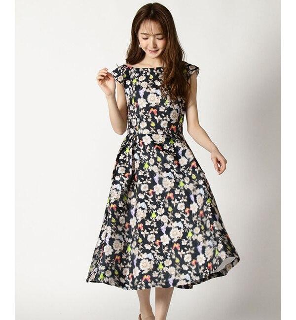 【アンドクチュール/And Couture】 HANYレジーナ柄3Dフラワー柄ドレス