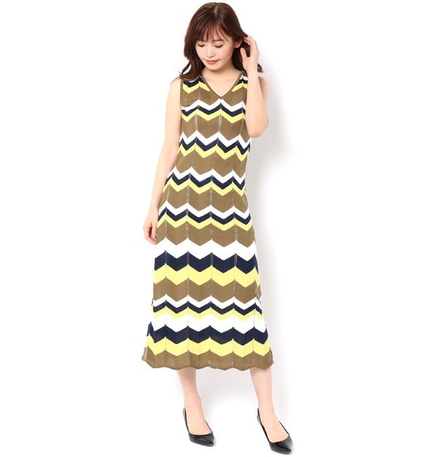 【アンドクチュール/And Couture】 【and GIRL5月号掲載】フリ柄配色ボーダー