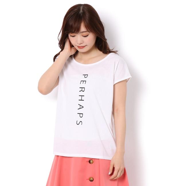 【アンドクチュール/And Couture】 【WEB限定】PERHAPS ロゴTシャツ