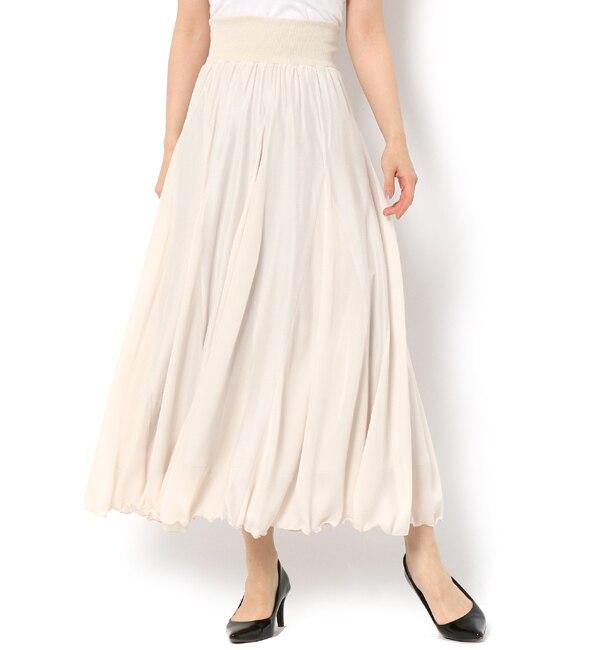 【アンドクチュール/And Couture】 サテンミックスロングスカート