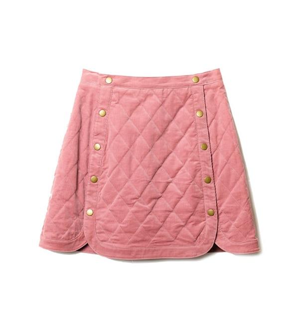 【レディアゼル/REDYAZEL】 コーデュロイ中綿台形ミニスカート