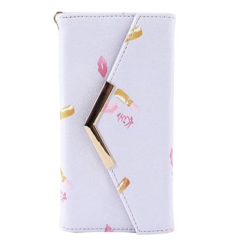 【ジュエルナローズ/Jewelna Rose】 リッププリント iPhone6/6S専用 手帳型モバイルケース / 33305 [送料無料]