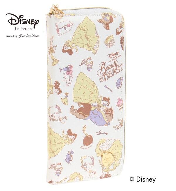 """ディズニー """"美女と野獣"""" Disney """"Beauty and the Beast"""" Series パスポートケース / 33431【ジュエルナローズ/Jewelna Rose レディス 財布 イエロー ルミネ LUMINE】"""