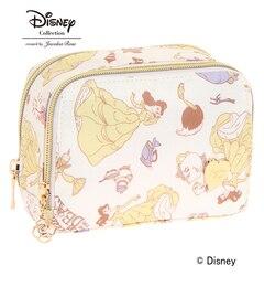 """【ジュエルナローズ/Jewelna Rose】 ディズニー """"美女と野獣"""" Disney """"Beauty and the Beast"""" Series ダブルファスナーポーチ [送料無料]"""