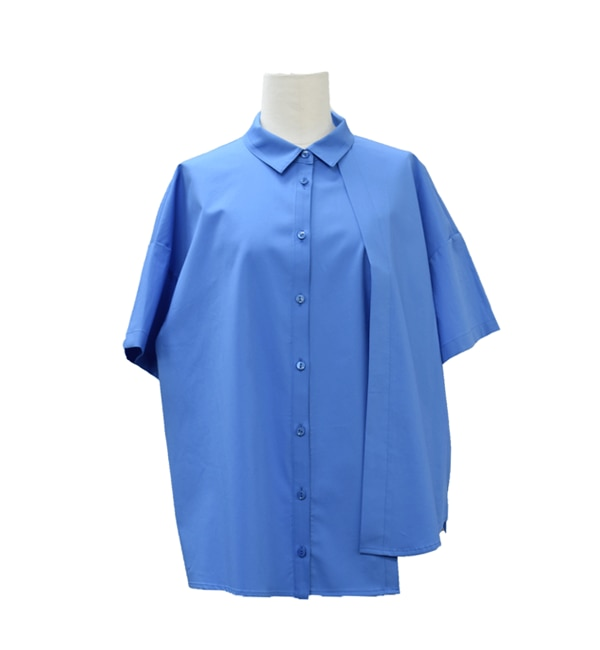 【アンティグラヴィテ/Antigravite】 100/2コットンマイスター斜めタックシャツ