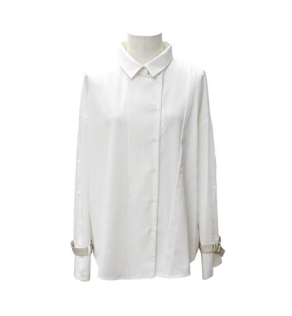 【アンティグラヴィテ/Antigravite】 T/R袖合皮ベルトシャツ