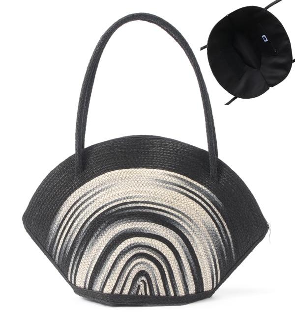 【カオティックオリジンダブ/CHAOTIC ORIGIN DUB】 A4サイズが入るシェル型籠バッグ