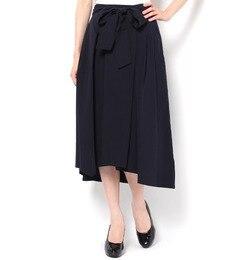【トプカピ/TOPKAPI】 テンセル混リボン付き・フレアーロングスカート [送料無料]