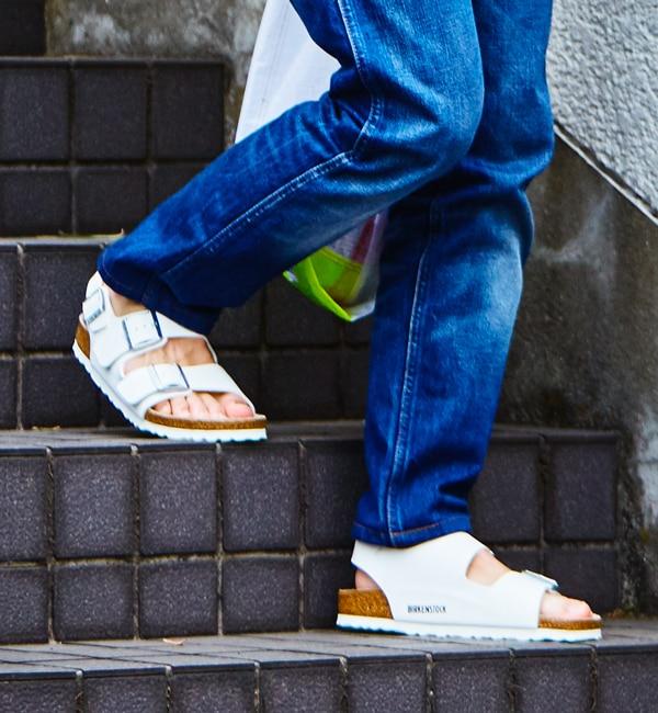 ■人気抜群の安定感モデル■MILANO/ミラノ ホワイト(MEN)【ビルケンシュトック/BIRKENSTOCK メンズ サンダル ホワイト ルミネ LUMINE】