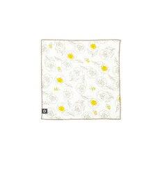 【ダッドウェイ/DADWAY】 ガーゼハンカチ/ビーフラワー [3000円(税込)以上で送料無料]
