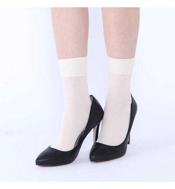 【クツシタヤ/靴下屋】 消臭ナイロンソックス