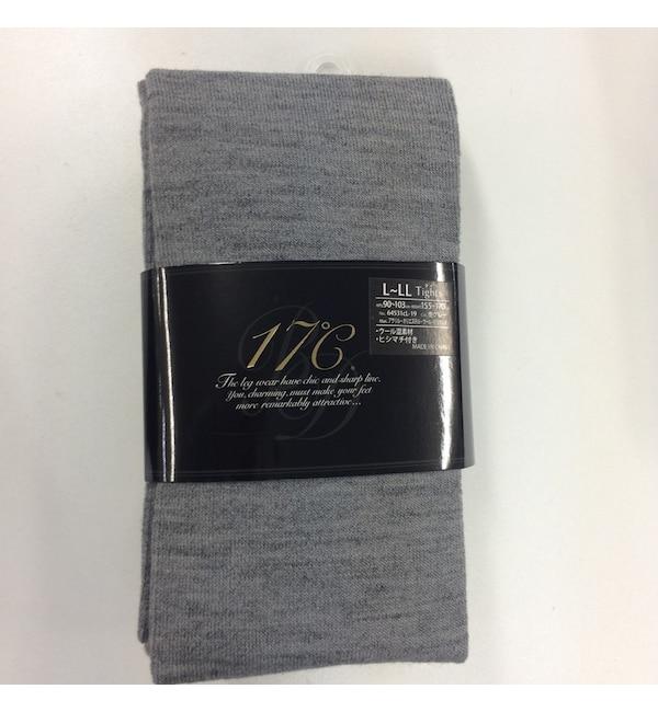 【ジュウナナドシー バイ ブロンドール/17℃ by Blondoll】 【タイツ】ウール混プレーン L-LL