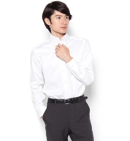 【パブス/PUBS】 「Cricket」オリジナル 綿100%イージーケア加工 サテンツイル ボタンダウンカラーシャツ [送料無料]