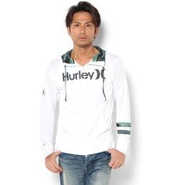 【Hurley 】ラッシュパーカー【サンアイミズギラクエン/三愛水着楽園 メンズ スポーツ ホワイト ルミネ LUMINE】