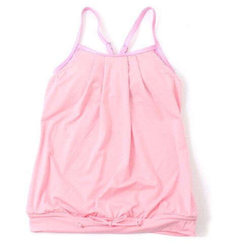 【サンアイミズギラクエン/三愛水着楽園】 【Coral veil Fitness】 Grade Flavor フロントタック ブラ付きレイヤードキャミトップス [送料無料]