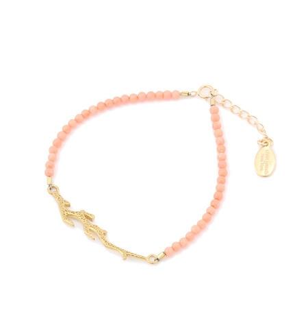 【サンアイミズギラクエン/三愛水着楽園】 【chibi jewels】 サンゴモチーフカラービーズブレスレット [送料無料]