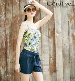 <アイルミネ>【Coral veil Cruise】ウエストリボン付きショートパンツ