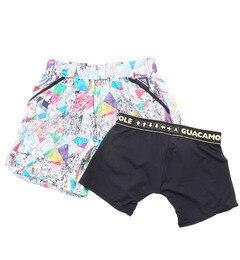 【ガカモレ/GUACAMOLE】 インナーパンツ付きカラフルプリントショートパンツ [送料無料]