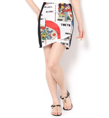 【ガカモレ/GUACAMOLE】 メッシュラインNUMFLAGスカート [送料無料]