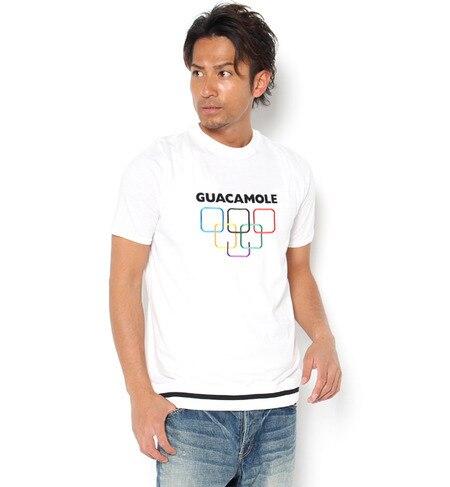 【ガカモレ/GUACAMOLE】 ロゴ&ファイブリング刺繍半袖トップス [送料無料]
