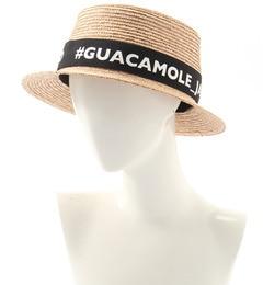【ガカモレ/GUACAMOLE】ロゴリボン巻きカンカン帽[送料無料]