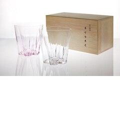 【ココルミネストア/KOKO LUMINE STORE】 テーブルに2輪のさくらさく【さくらさくロックグラス / 100percent】 [送料無料]