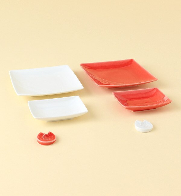【ミヤマショッキテン/深山食器店(KOKO LUMINE)】 水引 紅白器揃 あわじ結び箸置 [送料無料]